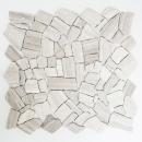 Mosaik Fliese Marmor Naturstein Bruch Ciot Grau Streifen MOS44-0202
