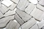 Mosaik Fliese Marmor Naturstein Bruch Ciot Grau Streifen MOS44-0202_m