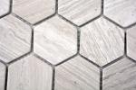 Mosaik Fliese Marmor Naturstein Hexagon Marmor grau Streifen MOS44-1205_m