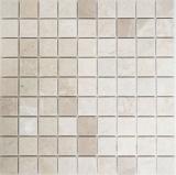Mosaik Fliese Marmor Naturstein weiß Botticino Anticato MOS42-0104
