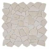 Mosaik Fliese Marmor Naturstein weiß Bruch Ciot Botticino Anticato MOS44-0104
