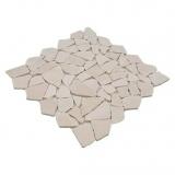 Mosaik Fliese Marmor Naturstein weiß Bruch Ciot Botticino Anticato MOS44-0104_m