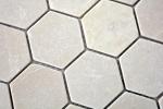 Mosaik Fliese Marmor Naturstein beige Hexagon Marmor Botticino Anticato MOS42-1212_m