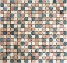 Mosaik Fliese Marmor Naturstein creme beige rot grün Random MOS38-1204