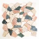 Mosaik Fliese Marmor Naturstein creme beige rot grün Bruch Ciot Random MOS44-1204