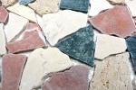 Mosaik Fliese Marmor Naturstein creme beige rot grün Bruch Ciot Random MOS44-1204_m