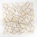 Mosaik Fliese Marmor Naturstein Bruch Ciot golden cream poliert Struktur MOS44-30-2807