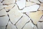 Mosaik Fliese Marmor Naturstein Bruch Ciot golden cream poliert Struktur MOS44-30-2807_m