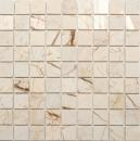 Mosaik Fliese Marmor Naturstein golden cream poliert Struktur MOS42-32-2807