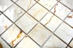 Mosaik Fliese Marmor Naturstein golden cream poliert Struktur MOS42-32-2807_m