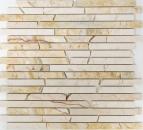 Mosaik Fliese Marmor Naturstein Brick golden cream poliert Struktur MOS40B-2807
