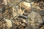 Mosaik Fliese Marmor Naturstein Hexagon Impala braun poliert MOS42-1311_m