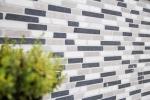 Mosaik Fliese Marmor Naturstein beige grau schwarz Brick Botticino Nero MOS40-0204_m