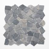 Mosaik Fliese Marmor Naturstein schwarz Bruch Ciot Neromarquina MOS44-30-120_m