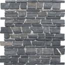 Mosaik Fliese Marmor Naturstein schwarz Brickmosaik Neromarquina MOS40-0210