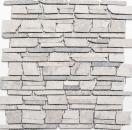 Mosaik Fliese Marmor Naturstein grau Brickmosaik MOS40-0230