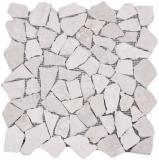 Mosaik Fliese Marmor Naturstein hellbeige Bruch Ciot Biancone MOS44-30-100