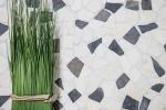 Mosaik Fliese Marmor Naturstein beige schwarz Bruch Ciot BianconeJava MOS44-30-110_m