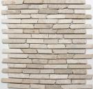 Mosaik Fliese Marmor Naturstein hellbeige Brick Biancone MOS40-0105