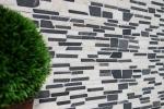 Mosaik Fliese Marmor Naturstein beige schwarz Brickmosaik BianconeJava MOS40-0205_m