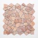 Mosaik Fliese Marmor Naturstein rot Bruch Ciot Rossoverona MOS44-30-140