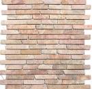 Mosaik Fliese Marmor Naturstein rot Brick Rossoverona MOS40-0145