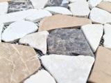 Mosaik Fliese Marmor Naturstein beige braun Bruch Ciot CastanaoCream MOS44-30-190_m