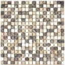 Mosaik Fliese Marmor Naturstein beige braun Castanao Biancone MOS38-1213