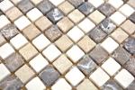 Mosaik Fliese Marmor Naturstein beige braun Castanao Biancone MOS38-1213_m