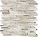 Mosaik Fliese Marmor Naturstein Brick Splitface grau Streifen MOS40-3D20