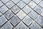 Mosaik Fliese Marmor Naturstein hellgrau Bardiglio Antique Marble MOS40-40023_m