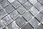 Mosaik Fliese Marmor Naturstein schwarz Nero Antique Marble MOS36-0306-A_m