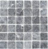 Mosaik Fliese Marmor Naturstein schwarz Nero Antique Marble MOS36-0404