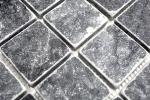 Mosaik Fliese Marmor Naturstein schwarz Nero Antique Marble MOS36-0404_m