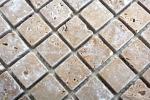 Mosaik Fliese Travertin Naturstein walnuss Noce Antique Travertin MOS43-44023_m