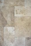 Fliese Travertin Naturstein beige Fliese Römischer Verband Chiaro Antique Travertin MOSF-45-46000