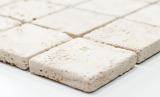 Mosaik Fliese Travertin Naturstein beige Chiaro Antique Travertin MOS43-46048