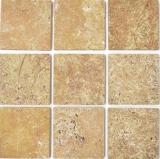 Fliese Travertin Naturstein gelb Fliese Gold Antique Travertin MOSF-45-51010