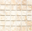 Mosaik Fliese Travertin Naturstein gelb Gold Antique Travertin MOS43-51048