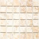 Mosaik Fliese Travertin Naturstein Medio gelb gold goldbraun Duschtasse Duschwand Wandverblender Küche - MOS43-51048