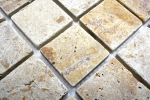 Mosaik Fliese Travertin Naturstein gelb Gold Antique Travertin MOS43-51048_m