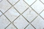 Mosaik Fliese Kalkstein Naturstein weiß Lymra Limestone honed MOS29-59048_m