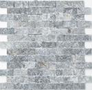 Mosaik Fliese Marmor Naturstein schwarz Brick Splitface Nero Marble 3D MOS40-48196