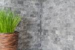 Mosaik Fliese Marmor Naturstein anthrazit grau Brick Splitface grey Marble 3D MOS40-48196_m