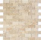 Mosaik Fliese Travertin Naturstein walnuss braun Brick Splitface 3D Optik Fliesenspiegel Wandfliese Küchenfliese - MOS43-44248