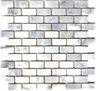 Mosaik Fliese Marmor Naturstein weiß Brick Ibiza Antique Marble MOSSopo-46692