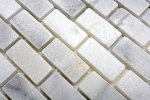 Mosaik Fliese Marmor Naturstein weiß Brick Ibiza Antique Marble MOSSopo-46692_m