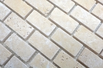 Mosaik Fliese Travertin Naturstein beige Brick Chiaro Antique Travertin MOS43-46234