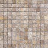 Mosaik Fliese Marmor Naturstein beige Emperador Light tumbled MOS43-46166
