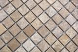 Mosaik Fliese Marmor Naturstein beige Emperador Light tumbled MOS43-46166_m